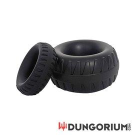 BRUTUS Tractor - Liquid Silicone Cock Ring - Black