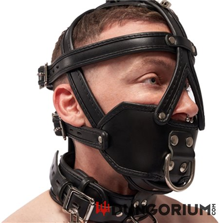 Mister B Leather Extreme Muzzle Head Harness-8718788013427