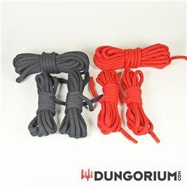 Starter-Seilset Baumwolle 8mm rot/schwarz