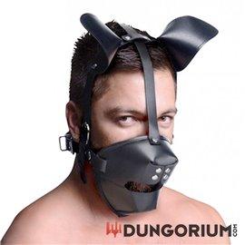 Puppy Play Maske Mit Ballknebel - Schwarz