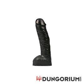 All Black ? Realistischer schwarzer Dildo 29 cm