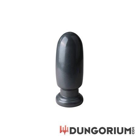Großer, runder Dildo in Grau-782421022174