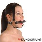 Strict Leather Trensenknebel mit Kopfharness