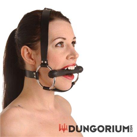 Strict Leather Trensenknebel mit Kopfharness -811847014545