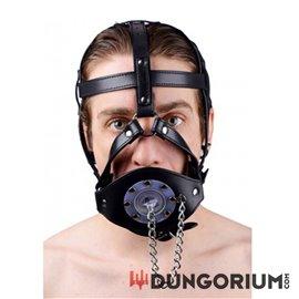 Kopf-Harness aus Leder mit Spülbeckenknebel