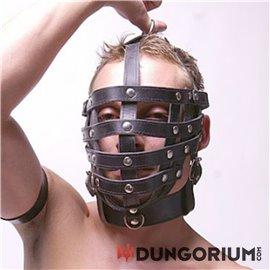 Käfig-Maske mit Halsband