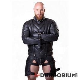 Schwere Zwangsjacke aus Leder