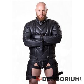 7 kg schwere Zwangsjacke aus Leder