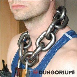 Extra schwere Halskette mit Schloss 3,7 kg