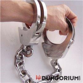 Extrem schwere Handschellen lange Kette 2,6 kg