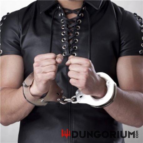 Extrem schwere Handschellen kurze Kette 2,4 kg