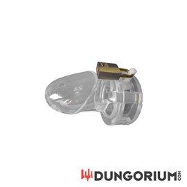 BON4 Keuschheitskäfig aus transparentem Silikon Medium