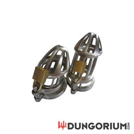 BON4 M PLUS Edelstahl Keuschheitskäfig Set Small & Medium