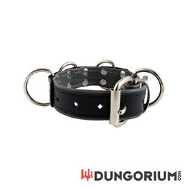 Mister B Leather Slave Collar 4 D-Rings