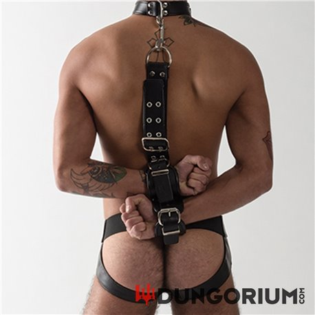 Mister B Leather Slave Collar With Restraints-8718788029749