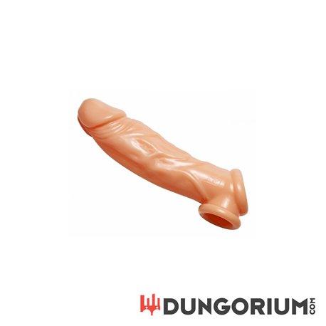 Realistic Flesh Penis Enhancer and Ball Stretcher-848518019387