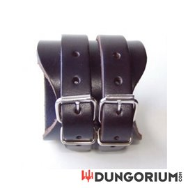 Dunkelbraunes Lederarmband 7 cm