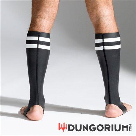 Neopren Socken Schwarz mit bunten Streifen