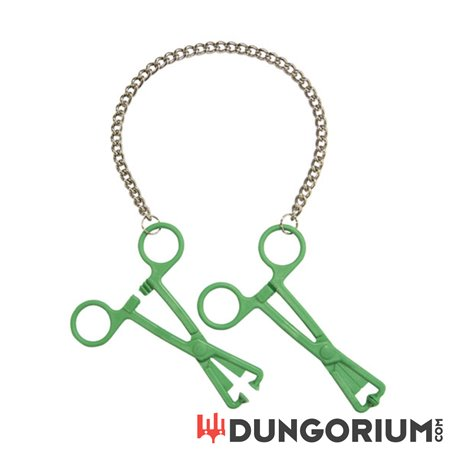 Green Tube Clamps on Chain-8718924230114