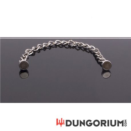 Magnetic Nipple pinchers with polished chain -8719497530328