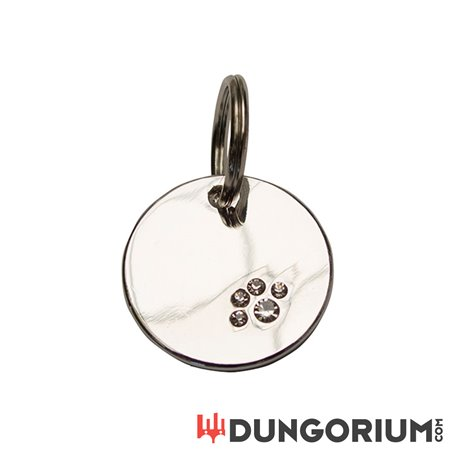 Dog Tag Silver with Paw-8718788875032