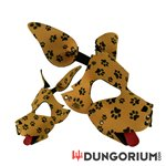 Personalisierbare Puppy Dog Maske aus Neopren - Pawsies