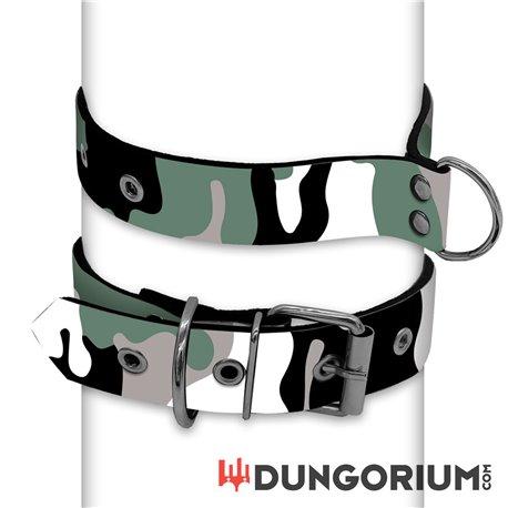 Personalisiertes Puppy Dog Halsband aus Neopren - Camo