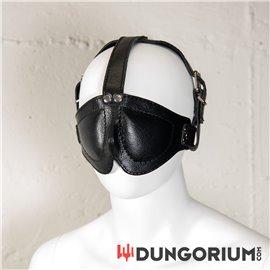 Mister B Deluxe Leder Augenmaske mit Riemen