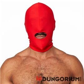 Lycra Maske rot Open Mouth