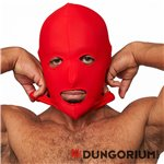 Lycra Maske red eyes and mouth open