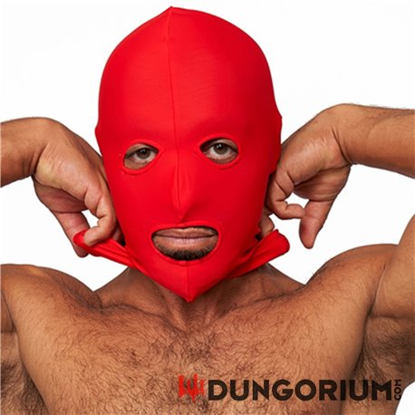 Lycra Maske red eyes and mouth open -8718788885550