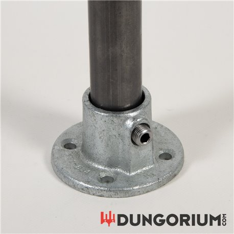 Fuß- oder Wandplatte, rund - Dungotube Bondagesystem