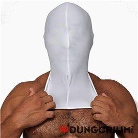 Mister B weiße Lycra Maske - ohne Löcher