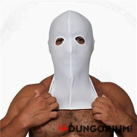 Mister B weiße Lycra Maske - Open Eyes Only -8718788888018