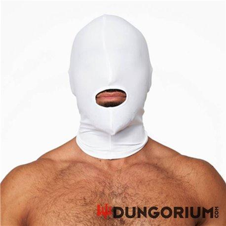 Mister B Weiße Lycra Maske - Openmouth -8718788888025