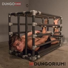 """Stahlkäfig DUNGOCAGE 1"""" mit Querstange und Polsterung"""