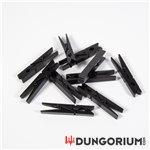 Bondageklammern schwarz aus Holz 10 Stück