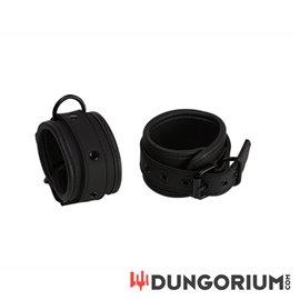 Neopren Handfessel schwarz mit D-Ring