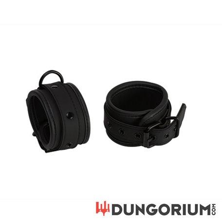 Neopren Handfessel schwarz mit D-Ring -8717729679944