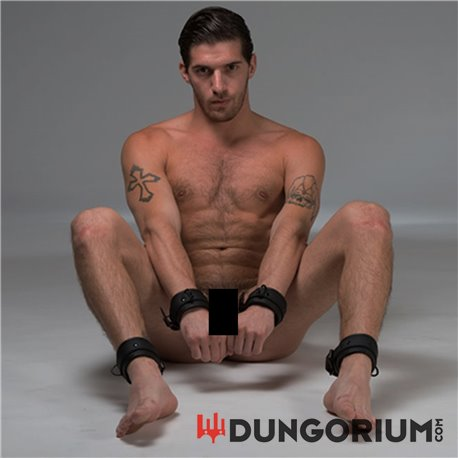 Neopren Fußfessel schwarz mit D-Ring -8717729679951