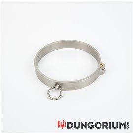 Edelstahl Halsfessel mit O-Ring und Steckschloss