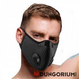 Gesichtsmaske mit Filter und Ventil