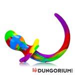 Oxballs Dog Tail Butt Plug - Rainbow Colors